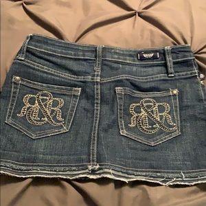 Rock republic mini jean skirt